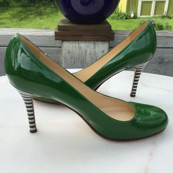 5546608770 Kate Spade Shoes   Katespade Karolina Stripe Heel Pump Euc   Poshmark